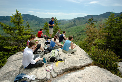 Abby, Gennie, Rachel, Erin, Sean, Andy, Theo, and Nathan (and me) on the summit.