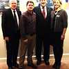 Diane Raver | The Herald-Tribune<br /> Sen. Joe Donnelly (second from right) is joined by (from left) Batesville Mayor Mike Bettice, community development director Steven Harmeyer and economic development director Sarah Lamping.
