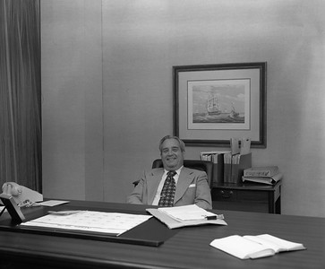 Dick Dance, head of the Legal Department of Associates Capital Corporation. April 28, 1978. The Associates offices were at the corner of Sixth Ave. S. and Broadway. The building was eventually acquired by First Baptist Church.