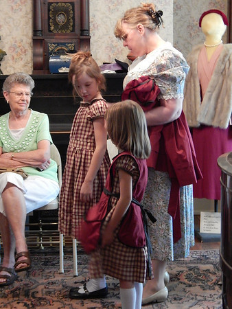 The Historical Society of Decatur County held a Style Show at the society's museum Saturday August 10, 2013. Styles from the 1980 back to Civil War dress were showcased with the use of mannequins and live models. The show was narrated by Donna Swinford.