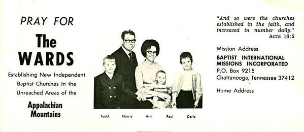1972 BIMI prayer card