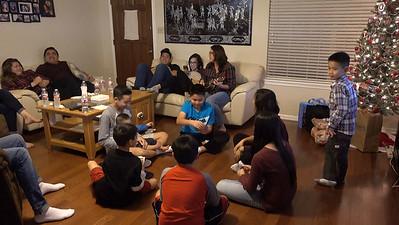 Chung playing ukulele