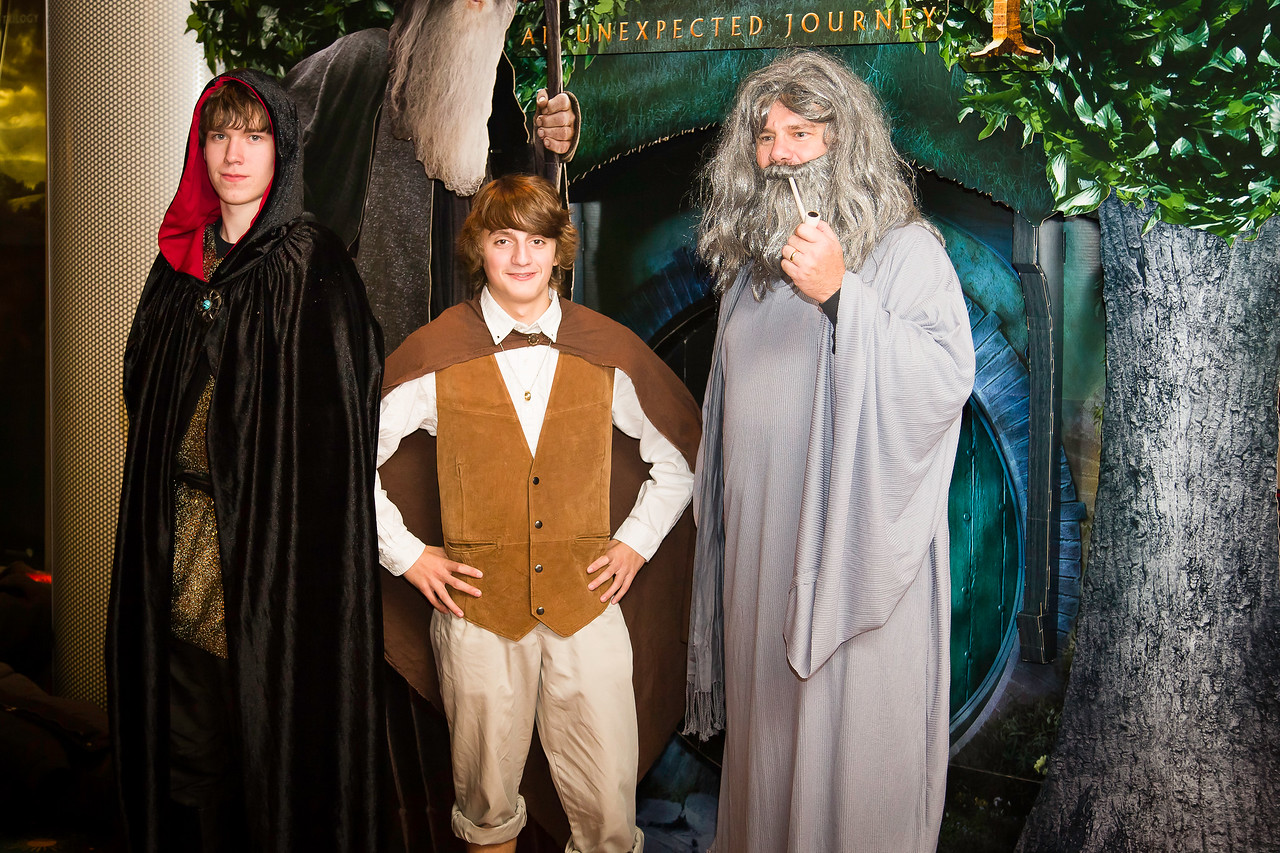 """Photos of people attending the premier of """"The Hobbit: An Unexpected Journey"""" at the AMC 24 Theaters in Hampton, Virginia."""