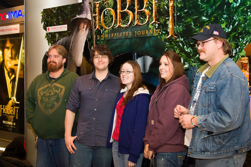 "Photos of people attending the premier of ""The Hobbit: An Unexpected Journey"" at the AMC 24 Theaters in Hampton, Virginia."