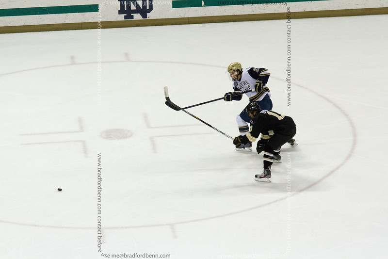 Stephen Johns lets a shot go during a 1 on 1 breakaway furing the first period.