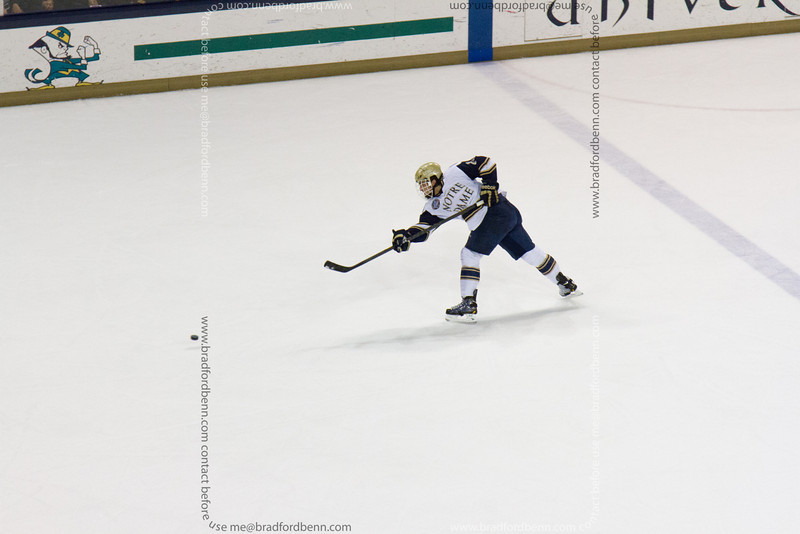 Stephen Johns takes a shot from the point.