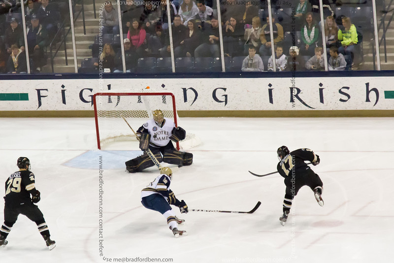 Justin Kovacs shot was easily stopped by Steven Summerhays during the first period