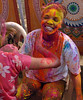 People of all countries enjoying Holi and applying colour on each other. Tourists and foreigners enjoying themself along with locals. Holi the Festival of Colours being celebrated in Jaipur, the Capital city of Rajasthan, India.