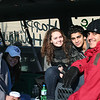 Arody, Barbara, Lene, Mahmoud, and Hamzah in the van.