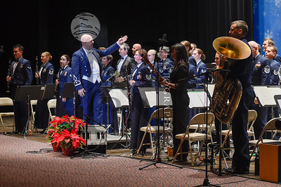 "United States Air Force Band of the West celebrated the season with their annual Concert Band feature ""Holiday in Blue"" at the Laurie Auditorium on Trinity University Sunday, December 11, 2016.  Gallery: http://smu.gs/2hxU2Yj"