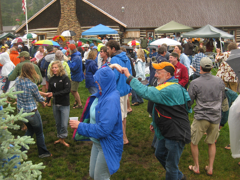 Fourth of July Twang @ Gold Hill Inn. and raining and dancing, even in the streets