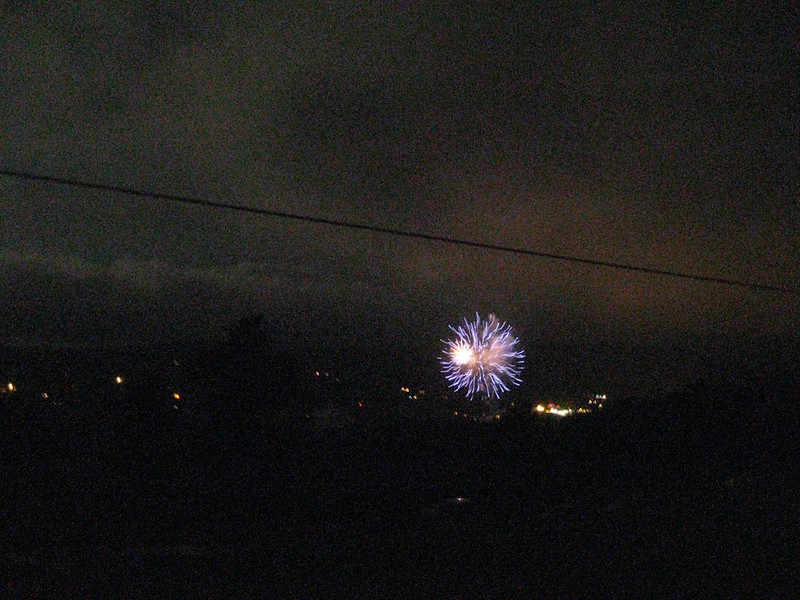 It cleared up for some fireworks over Nederland, Colorado