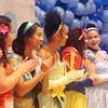 Holidays with Hope party sponsored by Hope Dove, Inc. at UTEC in Lowell. Some of the characters from Wreck it Ralph 2, from left, Brenda Cruz as Moana and her sister Bianca Cruz as Mulan, Maryann Valeyron as Princess Tiana, all of Lowell, Elizabeth Lugo of New Bedford as Snow White, Frances Collazo of Lowell as Cinderella and Abigail Cruz of Lowell as Pocohantas. (SUN/Julia Malakie)