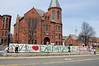 The Rockville Earth Day banner proudly displayed in front of the town hall.