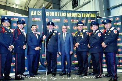 2014-09-14-1533  El Cuerpo Bomberos de Nogales, Sonora, Phoenix City Councilman Michael Nowakowski,Roberto Rodriguez Hernandez, consul de Mexico en Phoenix