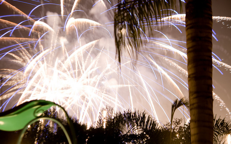Fireworks at Disneyland, CA. Image Copyright 2010 by DJB.  All Rights Reserved.