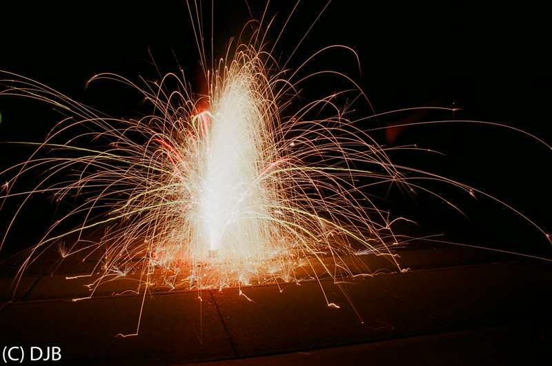 July 2014 Fireworks.  Shot on Kodak Ektar 100 film.  Image Copyright 2014 by DJB.  All Rights Reserved.  Processing and Scanning by North Coast Photo Services/