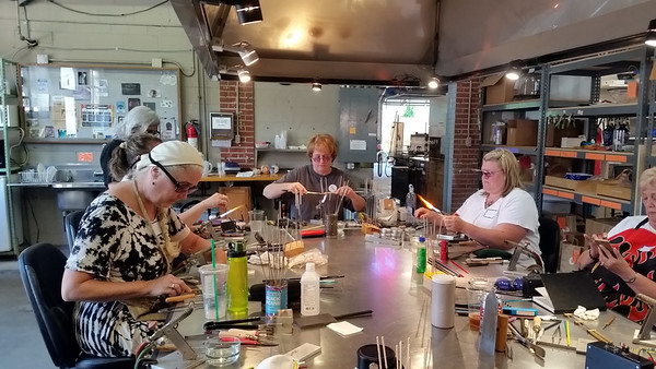 Holly Cooper Class at Third Degree Glass Factory, 9-2016