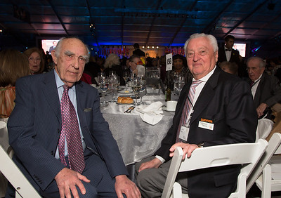 """Friends and survivors, Henry Klapholz (80) (left) and Jerry Stein (84). Henry Klapholz, from New Rochelle NY escaped German a day before the start of the war as a 5 year old, first to England and then to the U.S. Jerry Stein of Englewood NJ is a survivor Auschwitz's I.G. Farben factory slave labor complex near Buna where he spent almost a year as a bricklayer. On Jan. 18, 1945, 16-year-old Jerry Stein was taken out of Auschwitz and put on a forced death march to the nearby town of Gleiwitz. There, Stein recalls, he was stuffed into an open-air train car along with thousands of other Jewish prisoners and the train was sent off, as the Nazis hunted for another camp in which to house them. It was a full week before the inmates were unloaded at the Dora camp in Nordhausen, Germany. Then he was liberated by the Russians. Stein brags of his 3 children, 14 grandchildren, and 27 great grandchildren and """"not done yet"""". """"So we beat them"""""""