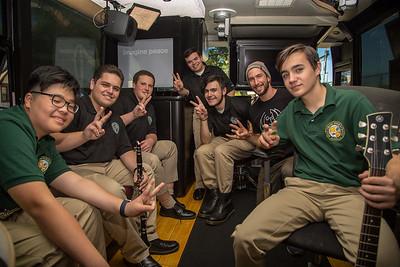 2017_10_02, Flushing, Holy Cross High School, NY, Bus, Interior
