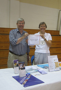 Jim Craig and Sandy Ward at the Senior Fest promoting MedlinePlus.gov and GoLocal Massachusetts.