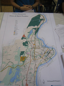 Map of health and fitness options in Holyoke.