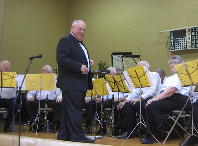 Rip Bourguignon, conductor of the Senior Concert Band of Western Massachusetts