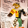 Heroes Homecoming bed sheet posters created by campus groups displayed in the Pit! Cardinal Key was the winner of the originality category. (Miranda Wieczorek/ Chadron State College)