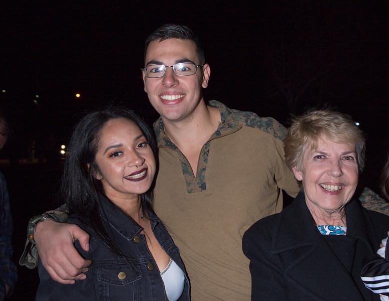 Nana, Reina, and Sgt. Phelps.