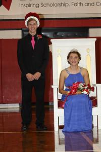 2014 Lutheran West Homecoming King Carter Deblock and Homecoming Queen Katie Snable
