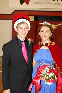 2014 Lutheran West Homecoming King Carter Deblock and Homecoming Queen Katie Snable.