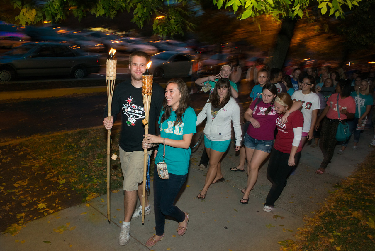 Torchlight Parade for Homecoming 2013