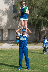 Brittany Brock (top) and Antheus Pickett showing off their school spirit at the homcoming picnic.