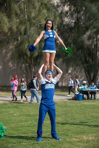 Alexia Marsik (top) and Brody Cowan showing off their school spirit at the homecoming picnic.