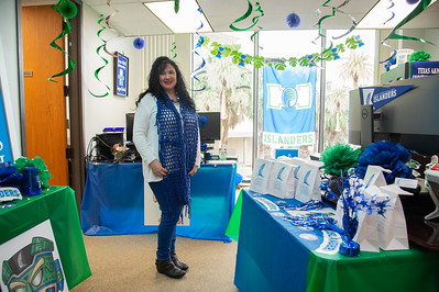 Michelle Cervantes shows her school spirit during Homecoming Week.