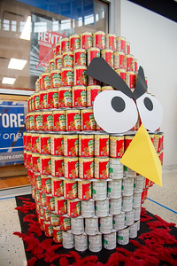 SEAS Angry Bird CANstruction.
