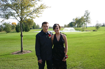 Alex and Erin dressed up for Wilton homecoming