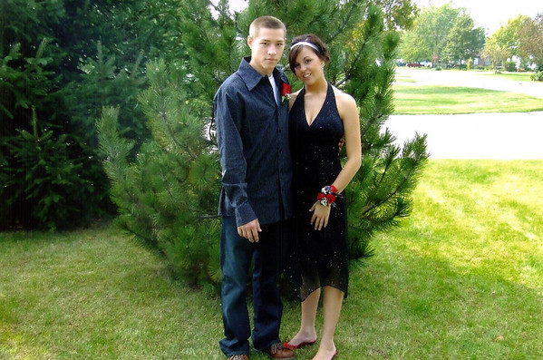 Alex and Erin all dressed up for homecoming