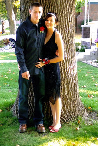 Alex and Erin ready for homecoming.