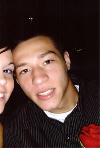 A closeup of Alex and Erin