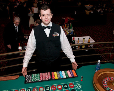 Tim Spradlin of Reading, OH welcomes you to the Roulette Table at The Cincinnati Hilton Netherland Plaza for the Hometown Hollywood Oscar party
