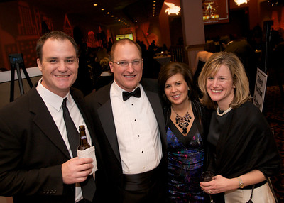 Mike O'Malley, Greg and Peggy Neal, and Renée O'Malley of Mason, OH at The Cincinnati Hilton Netherland Plaza for the Hometown Hollywood Oscar party