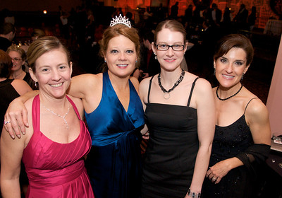 Jean Denny, Jody Aschendorf, Stephanie Callahan and Jeanne Houck-Thomas  at The Cincinnati Hilton Netherland Plaza for the Hometown Hollywood Oscar party