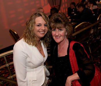Carrie Frederick and Sharon Riddle of Northern KY at The Cincinnati Hilton Netherland Plaza for the Hometown Hollywood Oscar party