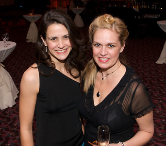 Annalisa Pappano and Stephanie Cornett of Cincinnati  at The Cincinnati Hilton Netherland Plaza for the Hometown Hollywood Oscar party