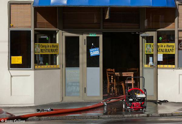 Hong Kong Café Fire, Taranaki Street, Wellington, 11 August 2012