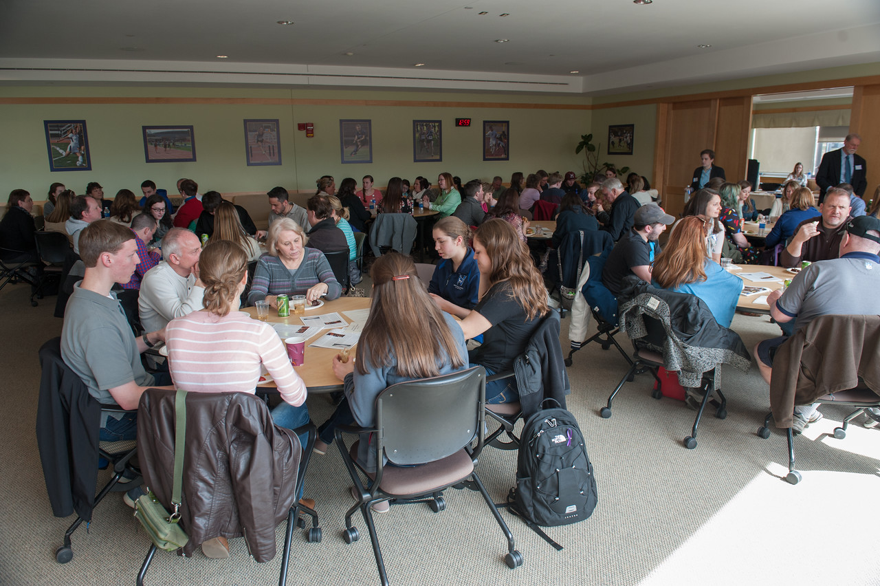 The Honors Program at Westfield State University hosts their Accepted Student Luncheon at the Woodward Center