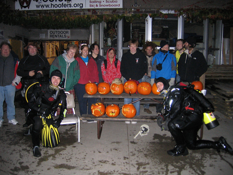 The group with all our pumpkins