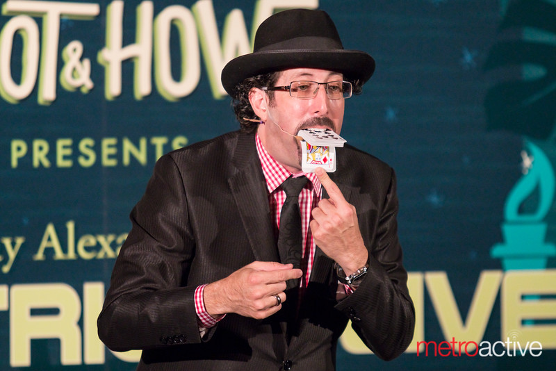 Magician and Mentalist Jay Alexander performing