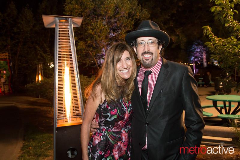 Organizer Heather Lerner and Magician Jay Alexander